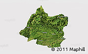 Satellite Panoramic Map of Panxian, cropped outside