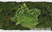 Satellite Panoramic Map of Panxian, darken