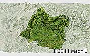Satellite Panoramic Map of Panxian, lighten