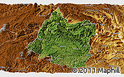 Satellite Panoramic Map of Panxian, physical outside