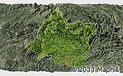 Satellite Panoramic Map of Panxian, semi-desaturated