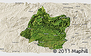 Satellite Panoramic Map of Panxian, shaded relief outside