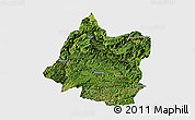 Satellite Panoramic Map of Panxian, single color outside