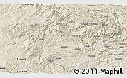 Shaded Relief Panoramic Map of Panxian