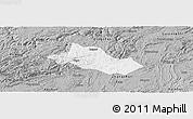 Gray Panoramic Map of Pingba