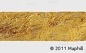 Physical Panoramic Map of Pingba