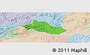 Political Panoramic Map of Pingba, lighten