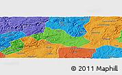 Political Panoramic Map of Pingba