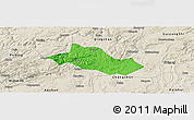 Political Panoramic Map of Pingba, shaded relief outside