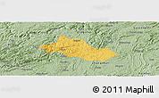 Savanna Style Panoramic Map of Pingba