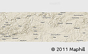 Shaded Relief Panoramic Map of Pingba