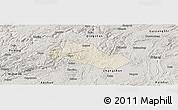 Shaded Relief Panoramic Map of Pingba, semi-desaturated