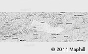 Silver Style Panoramic Map of Pingba