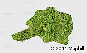 Satellite 3D Map of Pingtang, single color outside