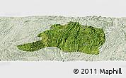 Satellite Panoramic Map of Pingtang, lighten