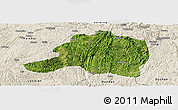 Satellite Panoramic Map of Pingtang, shaded relief outside