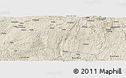 Shaded Relief Panoramic Map of Pingtang
