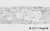 Silver Style Panoramic Map of Pingtang