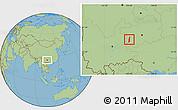 Savanna Style Location Map of Pu An