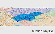 Political Panoramic Map of Puding, lighten
