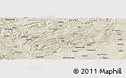 Shaded Relief Panoramic Map of Puding