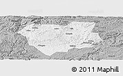 Gray Panoramic Map of Qianxi