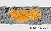 Political Panoramic Map of Qianxi, desaturated