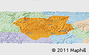 Political Panoramic Map of Qianxi, lighten