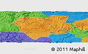 Political Panoramic Map of Qianxi