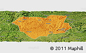 Political Panoramic Map of Qianxi, satellite outside