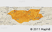Political Panoramic Map of Qianxi, shaded relief outside