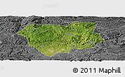 Satellite Panoramic Map of Qianxi, desaturated