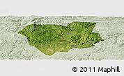 Satellite Panoramic Map of Qianxi, lighten