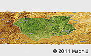 Satellite Panoramic Map of Qianxi, physical outside