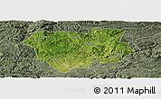 Satellite Panoramic Map of Qianxi, semi-desaturated