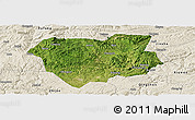 Satellite Panoramic Map of Qianxi, shaded relief outside