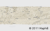 Shaded Relief Panoramic Map of Qianxi