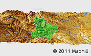 Political Panoramic Map of Qinglong, physical outside