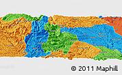 Political Panoramic Map of Qinglong
