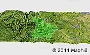 Political Panoramic Map of Qinglong, satellite outside