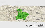 Political Panoramic Map of Qinglong, shaded relief outside