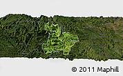 Satellite Panoramic Map of Qinglong, darken
