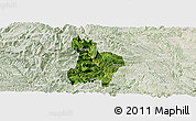 Satellite Panoramic Map of Qinglong, lighten