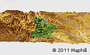 Satellite Panoramic Map of Qinglong, physical outside