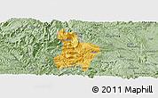 Savanna Style Panoramic Map of Qinglong