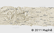 Shaded Relief Panoramic Map of Qinglong