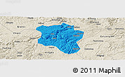 Political Panoramic Map of Qingzhen, shaded relief outside