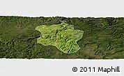 Satellite Panoramic Map of Qingzhen, darken