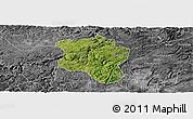 Satellite Panoramic Map of Qingzhen, desaturated