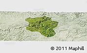 Satellite Panoramic Map of Qingzhen, lighten
